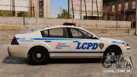 Polícia Pinnacle ESPA para GTA 4 esquerda vista