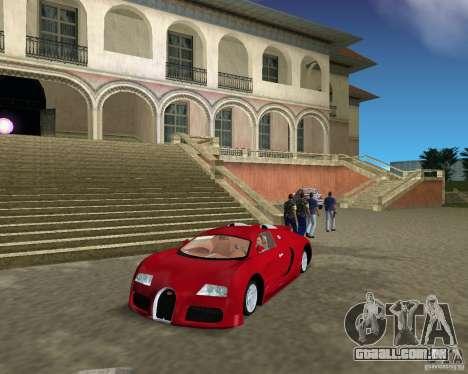 Bugatti Veyron para GTA Vice City deixou vista