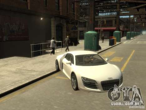 Audi R8 NFS Shift para GTA 4 vista de volta