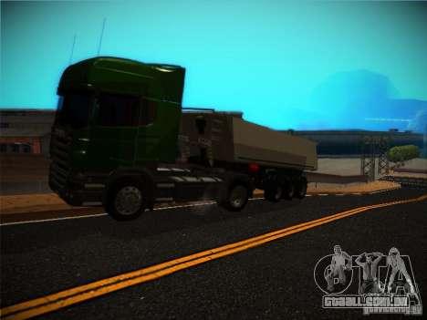 Scania R580 para GTA San Andreas vista traseira