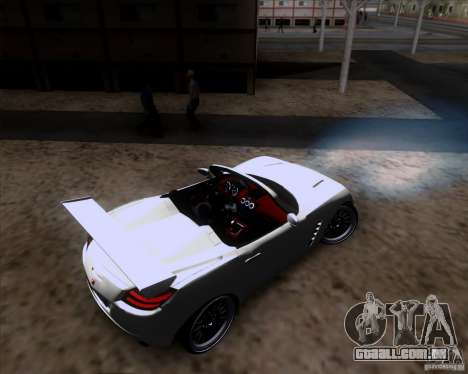 Saturn Sky Roadster para vista lateral GTA San Andreas