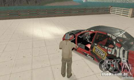 Mitsubishi Lancer Evolution 8 para GTA San Andreas vista traseira