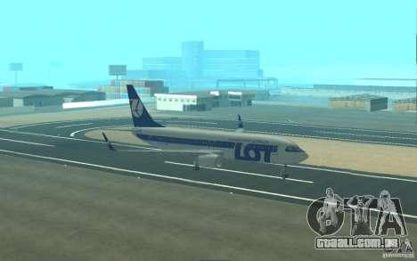 Boeing 737 LOT Polish Airlines para GTA San Andreas vista superior