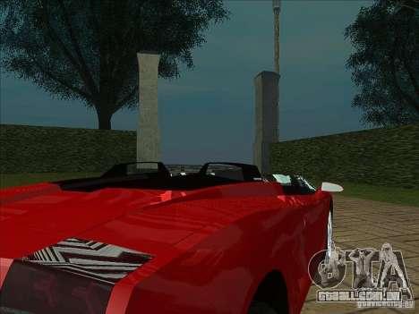 Lamborghini Concept S para GTA San Andreas vista traseira