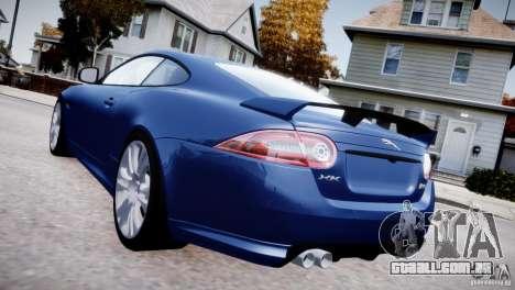 Jaguar XKR-S 2012 para GTA 4 vista de volta