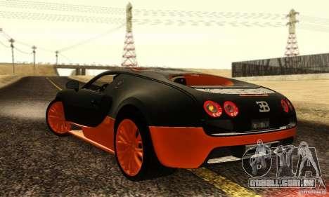 Bugatti Veyron SuperSport para GTA San Andreas vista direita