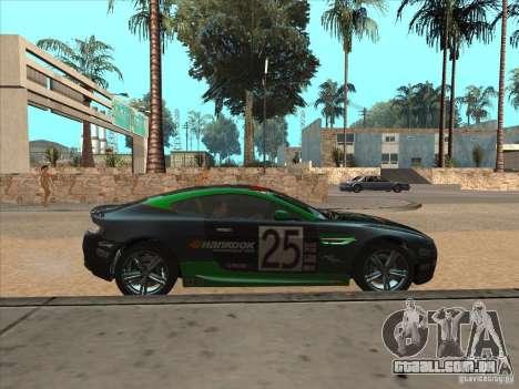 Aston Martin v8 Vantage n400 para vista lateral GTA San Andreas