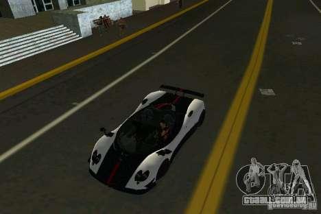 Pagani Zonda Cinque Roadster 2010 para GTA Vice City vista direita