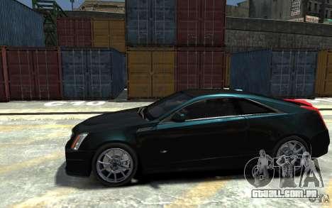 Cadillac CTS-V Coupe 2011 v.2.0 para GTA 4 esquerda vista