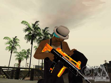 Black and Yellow weapons para GTA San Andreas terceira tela