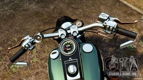 Harley Davidson Fat Boy Lo Racing Bobber para GTA 4 vista de volta