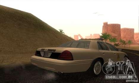 Ford Crown Victoria Iowa Police para GTA San Andreas esquerda vista