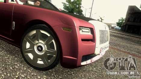 Rolls-Royce Ghost 2010 V1.0 para vista lateral GTA San Andreas