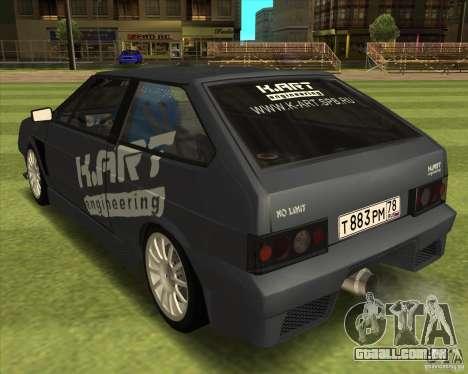 VAZ 2108 K-arte para GTA San Andreas esquerda vista