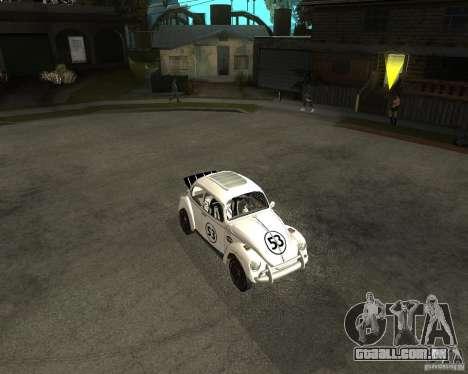 Volkswagen Beetle Herby para GTA San Andreas esquerda vista