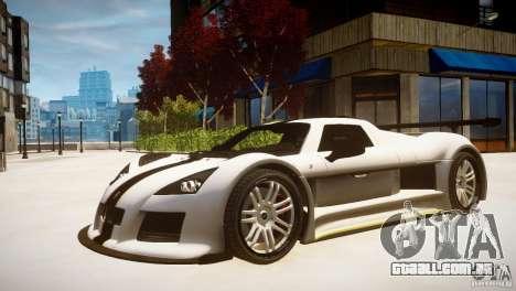 Gumpert Apollo Sport KCS Special Edition v1.1 para GTA 4 traseira esquerda vista