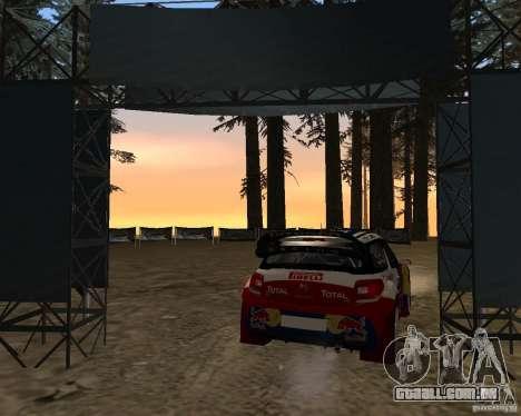 Citroen DS3 WRC para GTA San Andreas traseira esquerda vista