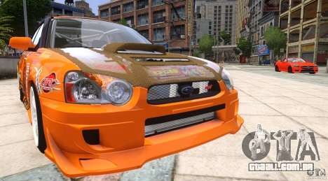 Subaru Impreza WRX STi GDB Team Orange para GTA 4 vista de volta