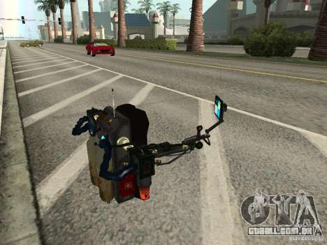 Um novo Jetpack para GTA San Andreas quinto tela