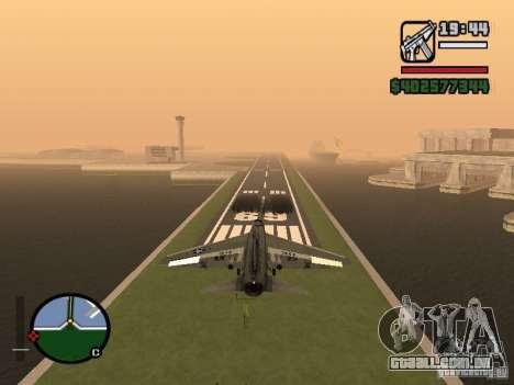A-7 Corsair II para GTA San Andreas traseira esquerda vista