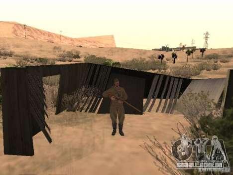 Pele de soldado soviético de II Guerra Mundial para GTA San Andreas segunda tela