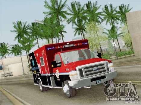 Ford E-350 AMR. Bone County Ambulance para GTA San Andreas vista superior