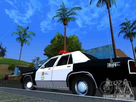 Ford Crown Victoria LTD 1992 LSPD para GTA San Andreas vista traseira