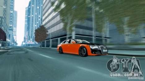 Audi A8 LED 2012 para GTA 4 esquerda vista
