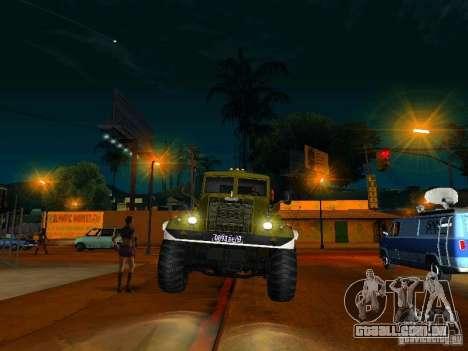 KrAZ caminhão Parade para GTA San Andreas vista traseira