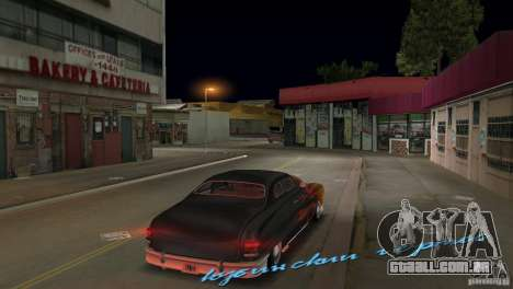 Cuban Hermes HD para GTA Vice City vista traseira esquerda