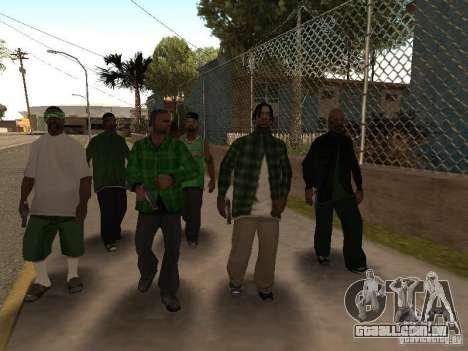 Novas skins a Grove Street Gang para GTA San Andreas por diante tela