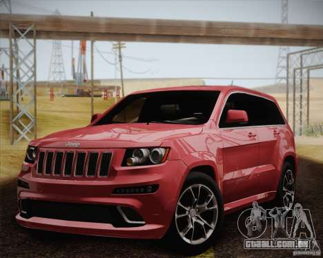 Jeep Grand Cherokee SRT-8 2012 para GTA San Andreas vista interior