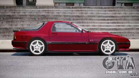 Mazda RX7 FC3S v2 FINAL para GTA 4 vista de volta