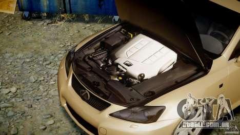Lexus IS F para GTA 4 vista direita
