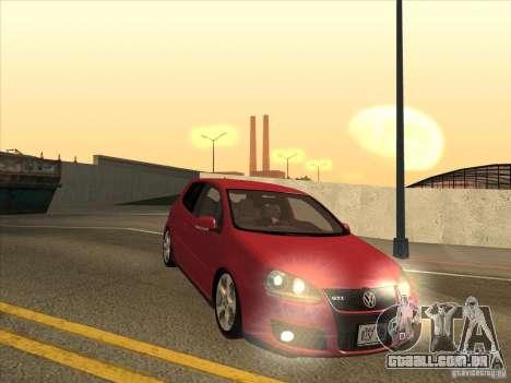 VW Golf Mk5 GTi - Stock: Tunable para GTA San Andreas vista traseira