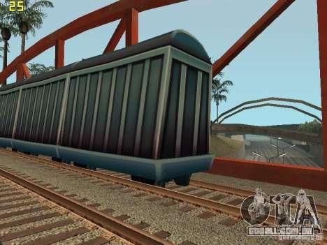 Vagão de metrô surfistas para GTA San Andreas