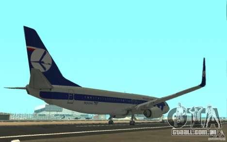 Boeing 737 LOT Polish Airlines para GTA San Andreas vista direita