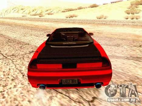 Acura NSX Stance Works para GTA San Andreas traseira esquerda vista