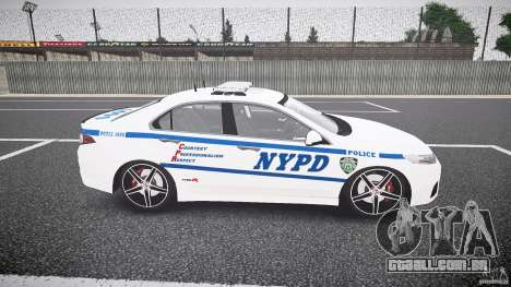 Honda Accord Type R NYPD (City Patrol 1090) ELS para GTA 4 vista interior