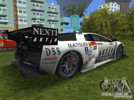 Lamborghini Murcielago R-GT para GTA Vice City deixou vista