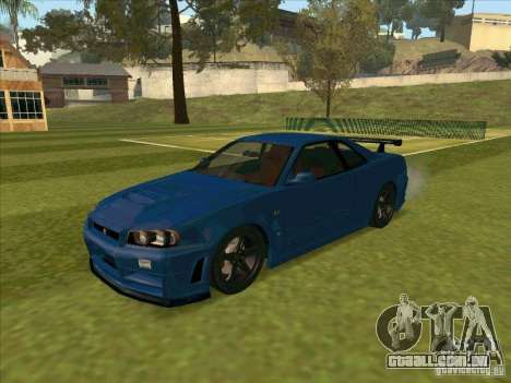 Nissan Skyline GT-R R34 from FnF 4 para GTA San Andreas