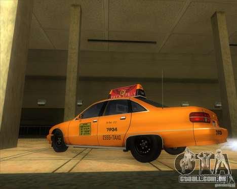Chevrolet Caprice Taxi 1991 para GTA San Andreas esquerda vista