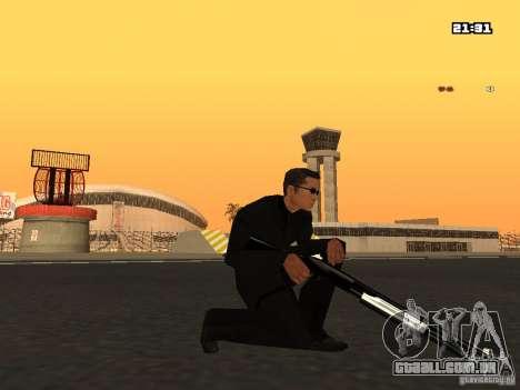 Blue Weapon Pack para GTA San Andreas por diante tela