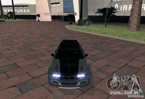 BMW M3 MyGame Drift Team para GTA San Andreas vista direita
