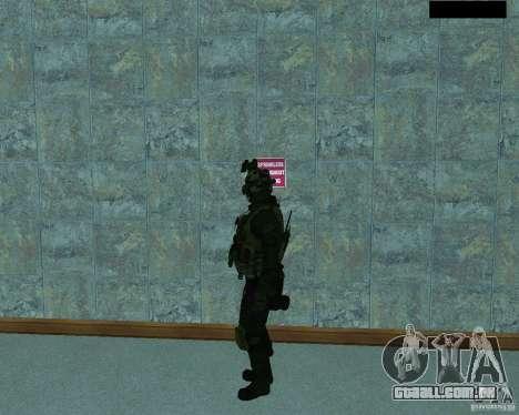 O terceiro soldado da pele Cod MW 2 para GTA San Andreas segunda tela