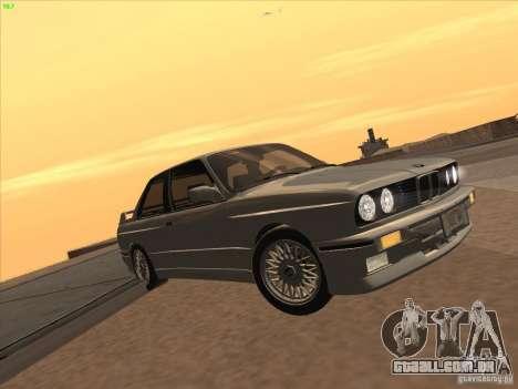 BMW M3 E30 1991 para GTA San Andreas traseira esquerda vista