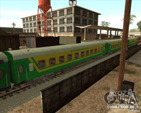 Carro de passageiros n. º 05808915 para GTA San Andreas esquerda vista
