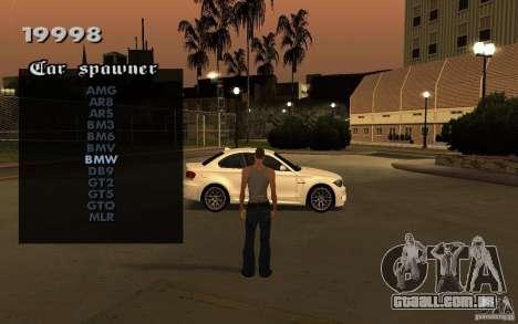 Vehicles Spawner para GTA San Andreas segunda tela