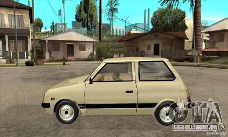 Daihatsu Cuore 1981 para GTA San Andreas esquerda vista