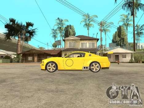 Ford Mustang GT-R para GTA San Andreas esquerda vista